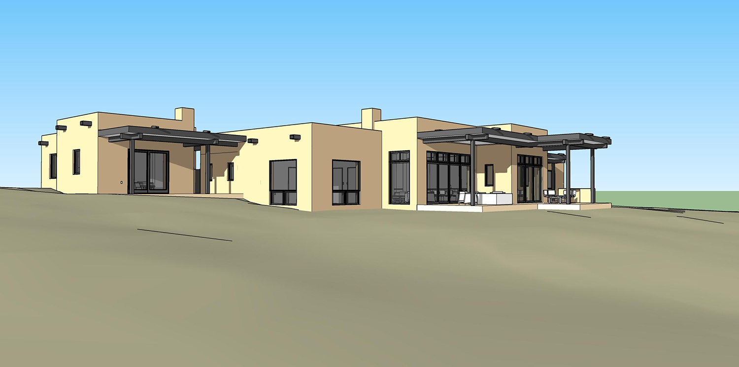 custom home building on Palomita street in Santa Fe, NM