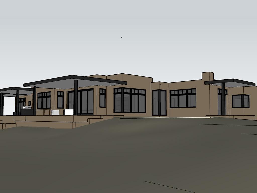 custom home building on Palomita street in Santa Fe, NM