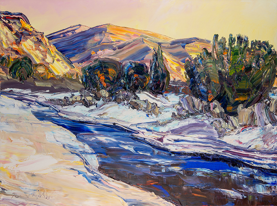 explore art at Acosta Strong gallery in Santa Fe NM