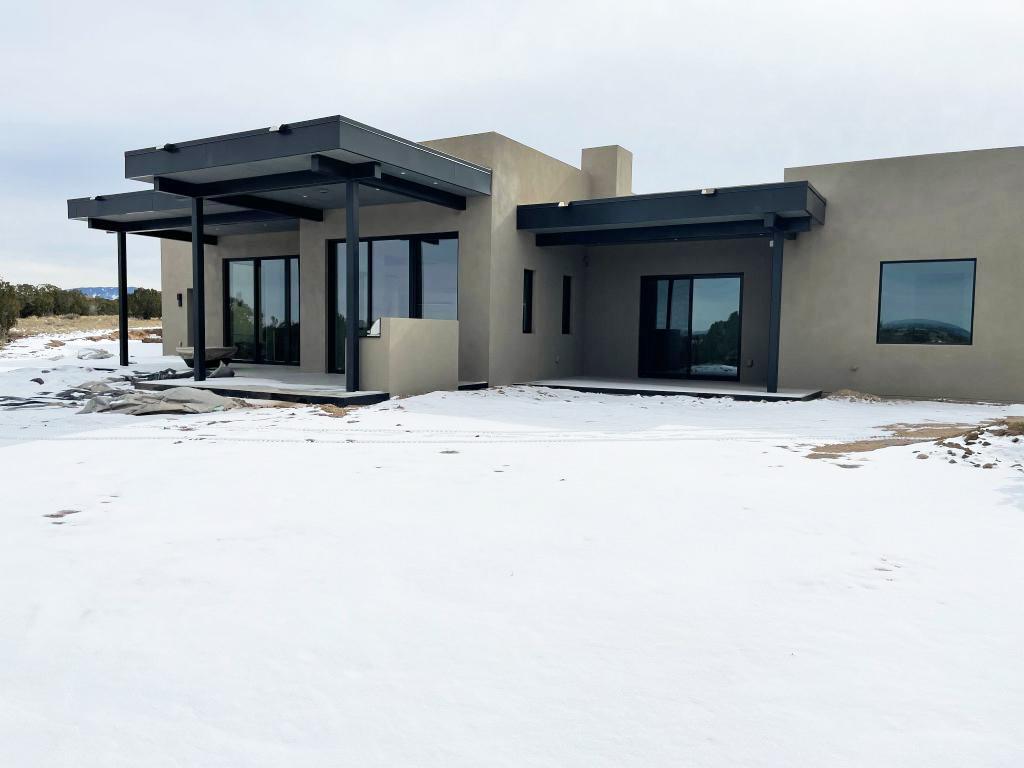 custom home building on Centro street in Santa Fe, NM